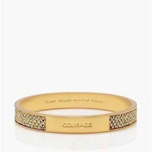 "Kate Spade 12k gold ""Courage"" bracelet. One size."